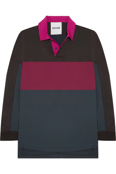 OVERSIZE POLO SHIRT WITH LONG SLEEVES