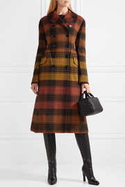 Bottega Veneta Checked wool coat