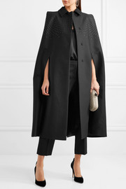 Bottega Veneta Studded cotton, wool and silk-blend twill cape