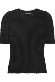 Bottega Veneta Metallic ribbed wool-blend sweater