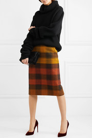 Bottega Veneta Checked wool pencil skirt