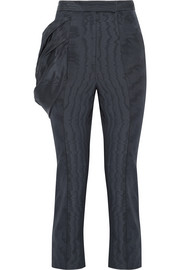 Do The Bustle silk and wool-blend moire skinny pants