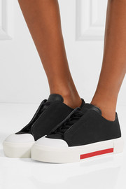 Alexander McQueen Leather-trimmed canvas sneakers