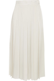 Pleated cady midi skirt