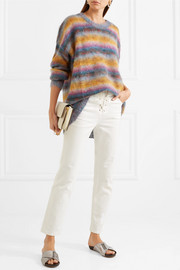 Chloé Striped mohair-blend sweater