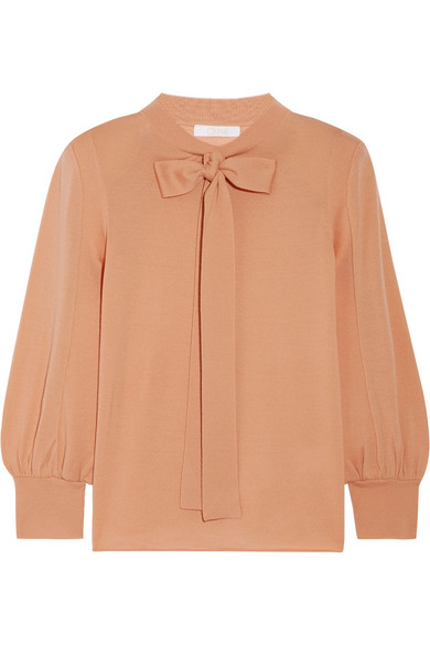 Chloé - Pussy-bow Wool Sweater - Sand