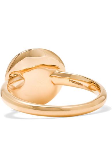 Pomellato Sabbia 18 karat rose gold diamond ring