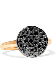 Sabbia 18-karat rose gold diamond ring