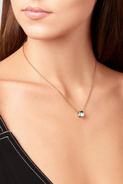 Pomellato Nudo 18-karat rose gold topaz necklace