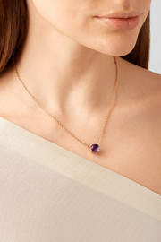 Pomellato Nudo 18-karat rose gold amethyst necklace