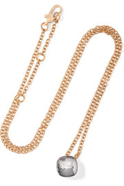 Nudo 18-karat rose gold topaz necklace