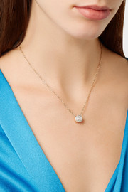 Pomellato Nudo 18-karat rose and white gold diamond necklace