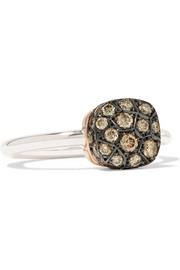 Nudo 18-karat rose gold diamond ring