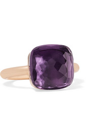 Nudo Maxi 18-karat rose gold amethyst ring