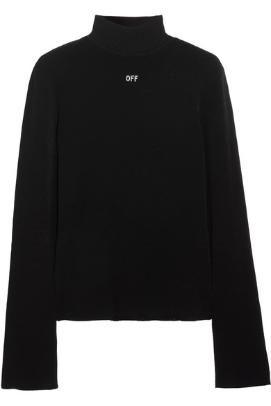 Off-White - Angel Stretch-knit Turtleneck Sweater - Black