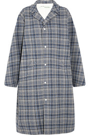 Oversized Prince of Wales checked woven coat
