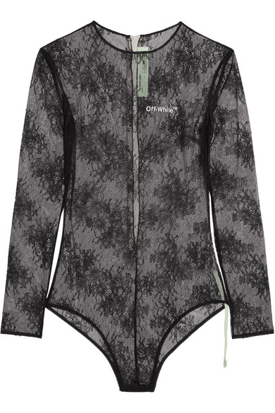 Off-White - Lace Bodysuit - Black