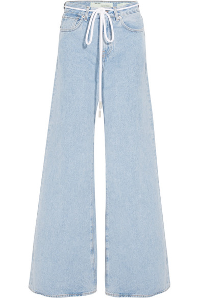 Off-White - High-rise Wide-leg Jeans - Mid denim