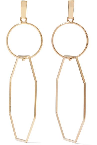 Natasha Schweitzer 14-karat Gold-plated Earrings pAkoO2