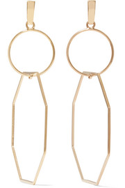 Natasha Schweitzer Odette 14-karat gold-plated earrings
