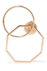 Odette 14-karat gold-plated earring