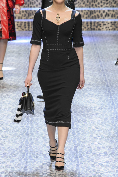 Dolce & Gabbana Midikleid aus Cady