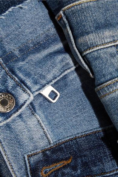 2d8ee37032cd Dolce   Gabbana. Distressed patchwork denim jacket.  2