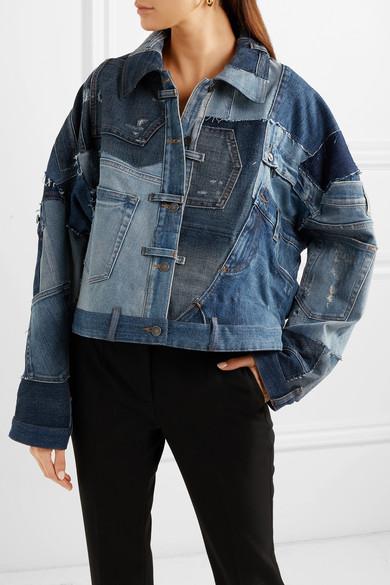 e166dea0e75b Dolce   Gabbana. Distressed patchwork denim jacket