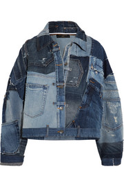Dolce & Gabbana Distressed patchwork denim jacket