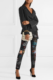 Queen printed high-rise skinny jeans