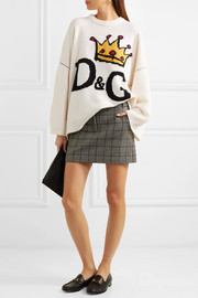 Dolce & Gabbana Oversized intarsia wool sweater