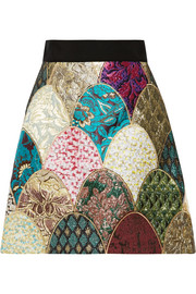 Dolce & Gabbana Patchwork brocade mini skirt