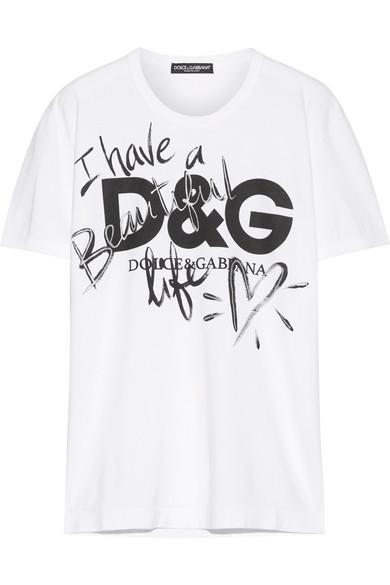 dba23a226ef Dolce   Gabbana. Printed cotton-jersey T-shirt