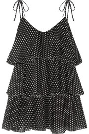 Lisa Marie Fernandez Imaan tiered polka-dot cotton-voile mini dress