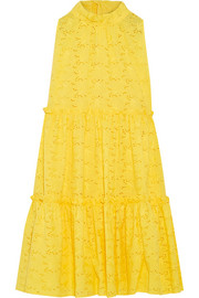 Lisa Marie Fernandez Ruffled broderie anglaise cotton dress