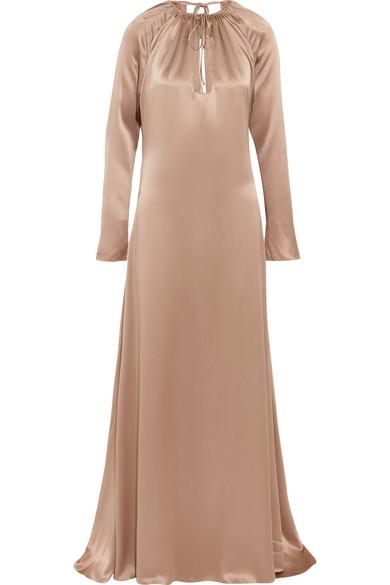 Juan Carlos Obando - Silk-satin Gown - Beige