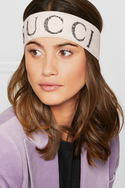 Printed stretch-knit headband
