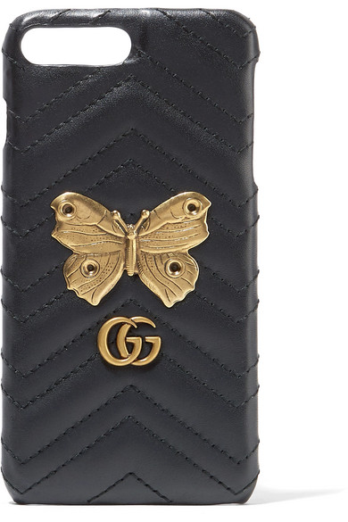 Embellished Quilted Leather Iphone 7 Case - Black Gucci JvX5JbG