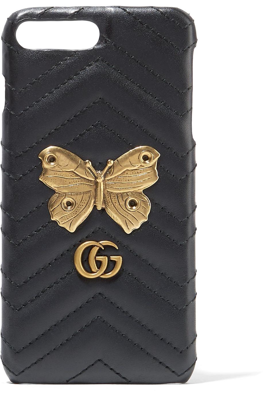c2b4ba323a5 Gucci Gg Marmont Moth Stud Iphone 7 Case Farfetch
