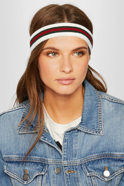 Striped stretch-knit headband