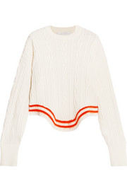 Esteban Cortazar Striped cable-knit sweater