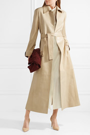 The Row Neyton belted leather coat