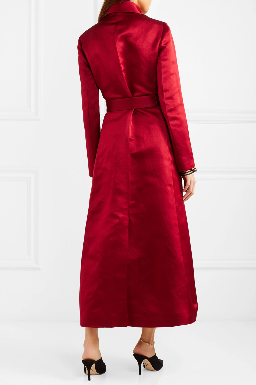 The Row Neyton silk-satin coat