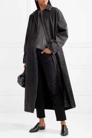 Luster denim coat