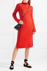The Row Moa ribbed wool and cashmere-blend turtleneck dress