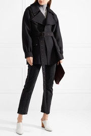 The Row Shamsta belted wool and silk-blend coat