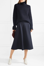 The Row Landi cable-knit cashmere turtleneck sweater