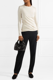 The Row Abinah draped cashmere sweater