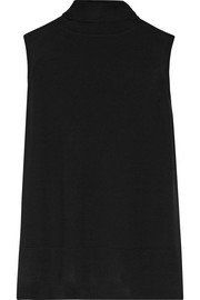The Row Aida merino wool, silk and cashmere-blend turtleneck tank