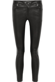 The Row Maddly leather skinny pants